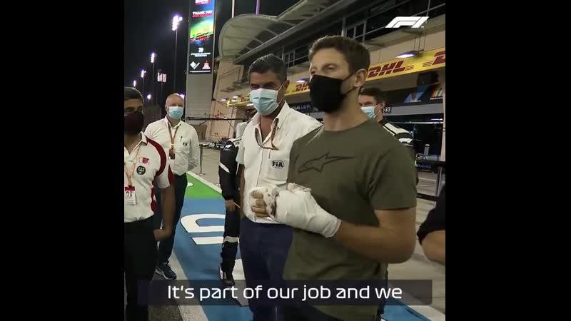 Роман Грожан поблагодарил медиков и маршалов которые помогали ему после аварии 👏🏻