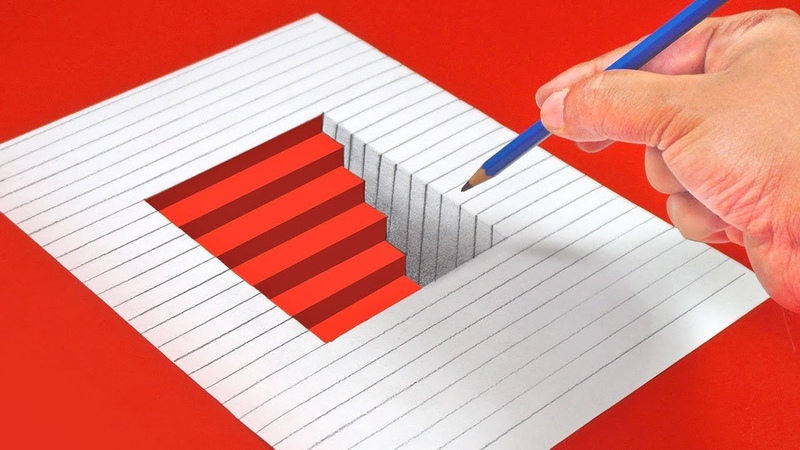 10 AMAZING ILLUSION DRAWINGS FOR KIDS Draw Illusions in Simple Way