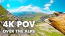 Breathtaking Eagle POV Flying Over The Alps in 4K