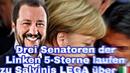 Drei Senatoren der Linken 5-Sterne laufen zu Salvinis LEGA über 🇮🇹