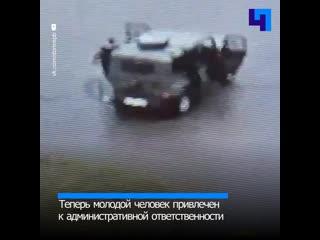 В Бокситогорске пьяный юноша угнал отцовский УАЗ и пытался скрыться от сотрудников ДПС