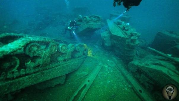 Находки под водой времен ВОВ. факты из истории