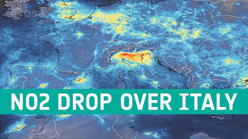 Coronavirus nitrogen dioxide emissions drop over Italy