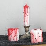 «Кровавые» свечи своими руками — мастер-класс на Хэллоуин Для интерьера Праздничное рукоделие