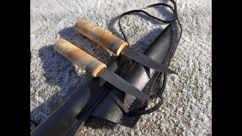 Ножи из дамаска с канителью