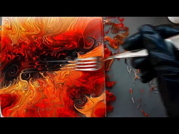Abstract Painting Fiery swirl