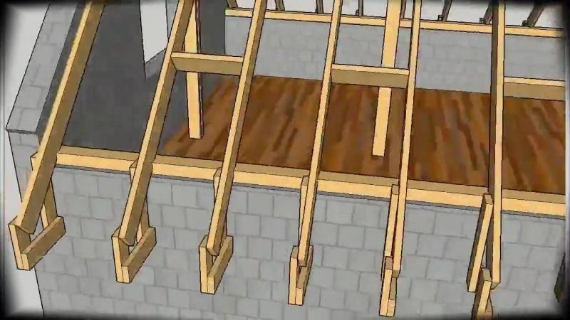 План строительства двускатной крыши-Бери и Делай