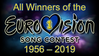 All winners of the Eurovision Song Contest (1956-2019)