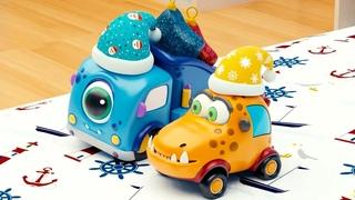 Машинки Мокас 🚕 Новый год 🚙 Развивающие мультики для детей и малышей 🚗
