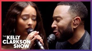 John Legend & Faouzia Perform 'Minefields' On The Kelly Clarkson Show