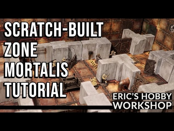 Scratch built Zone Mortalis Walls Terrain Tutorial for Necromunda Warhammer 40k