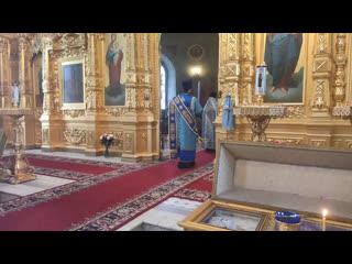 Великое повечерие в Христорождественском соборе Рязанского кремля