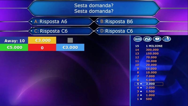 Chi Vuol Essere Milionario WWTBAM Italy Host Screen 2020 Recreation TVOLD3