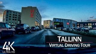 【4K 60fps】¾ HOUR RELAXATION FILM: 🚗 «Driving in Tallinn (Capital Estonia)» Ultra HD (for 2160p TV)