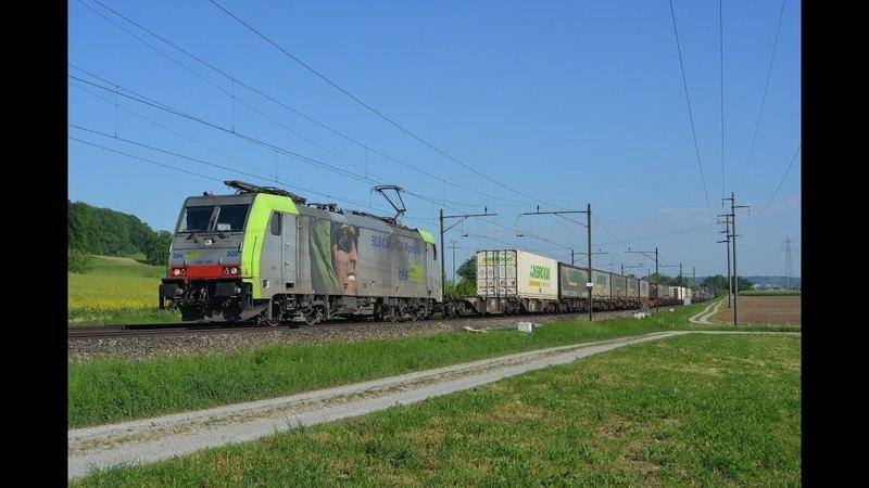 Bahnverkehr auf der Südbahn am 09.05.18 – Zusatz IC's, gelber Flirt, Ae 4/7 usw