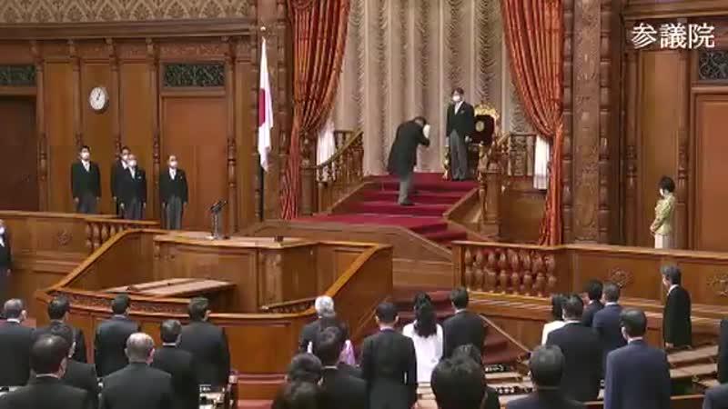 天皇陛下が国会に出席されお言葉を述べられましたがNHK含めTVは生放送せず TVは天皇陛下のお言葉を国民にきちんと伝える気がないとしか思えない kokkai