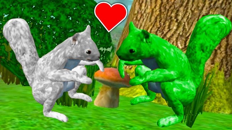 СИМУЛЯТОР БЕЛКИ 6 Белая и зеленая белочка Кида Сражаемся с волком и ищем бельчонка на пурумчата