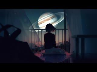 Город ночью на Луне Юпитера / City Night on Jupiter's Moon