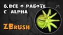 6. Alpha и 3D Alpha ZBrush. Создание и настройка | Уроки на русском