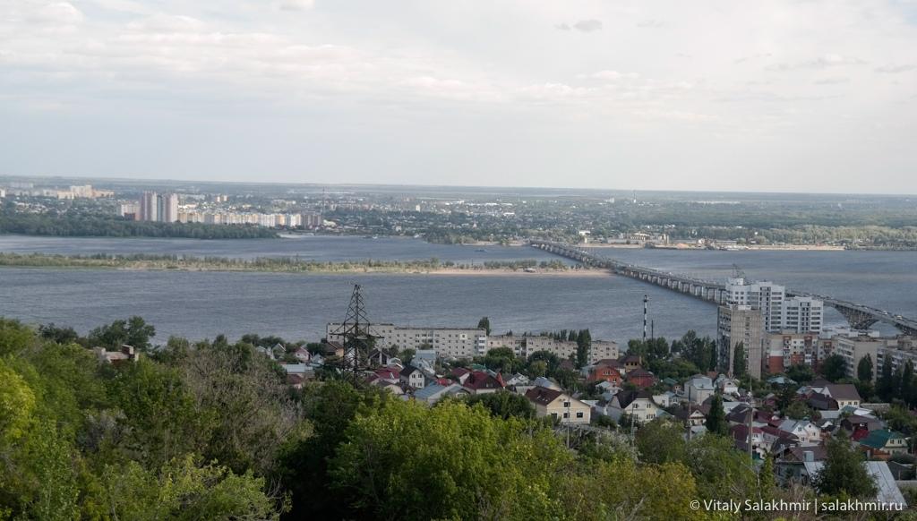 Мост через Волгу до Энгельса, Саратов 2020