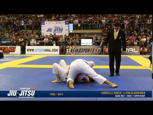 Gabrielle Gabi Garcia vs Venla Luukkonen IBJJF European 2015 FINALS