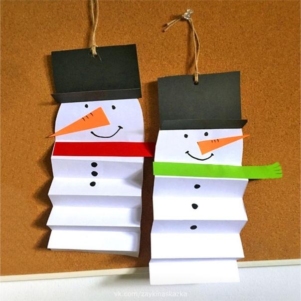 СНЕГОВИКИ Идеи для зимних поделок