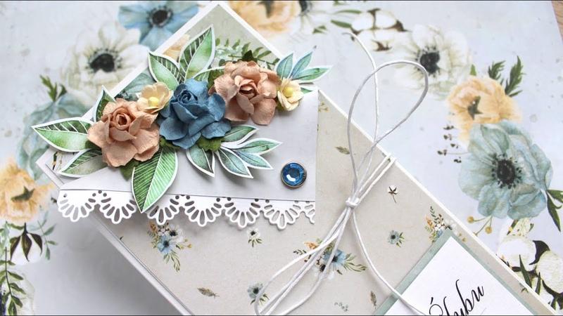 Kartka z kwiatową zakładką