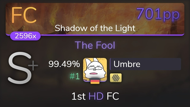 [Live] Umbre | Aether Realm - The Fool [Shadow of the Light] 1st HD FC 99.49 {1 701pp FC} - osu!