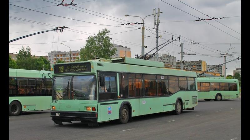 Троллейбус Минска БКМ-221,борт.№ 2427,марш.59 (28.11.2015)