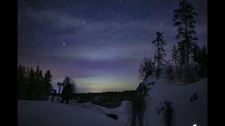 Северное сияние 07,03,2021 около часа ночи