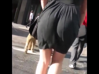 Arab Sexy Ass Walk Dance Street Black Dress 2018