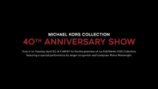 MICHAEL KORS COLLECTION FALL/WINTER 2021—THE 40TH ANNIVERSARY RUNWAY SHOW