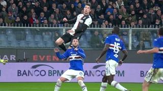 CR7 Cristiano Ronaldo INCREDIBLE Super Slow Motion Header vs Sampdoria 18 Dec. 2019 Insane Goal!!