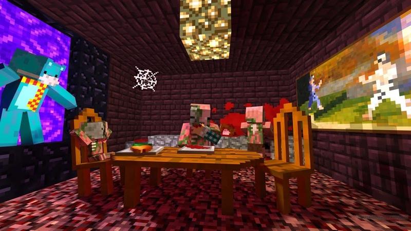 Бесконечный ужин в аду в майнкрафт Майнкрафт выживание