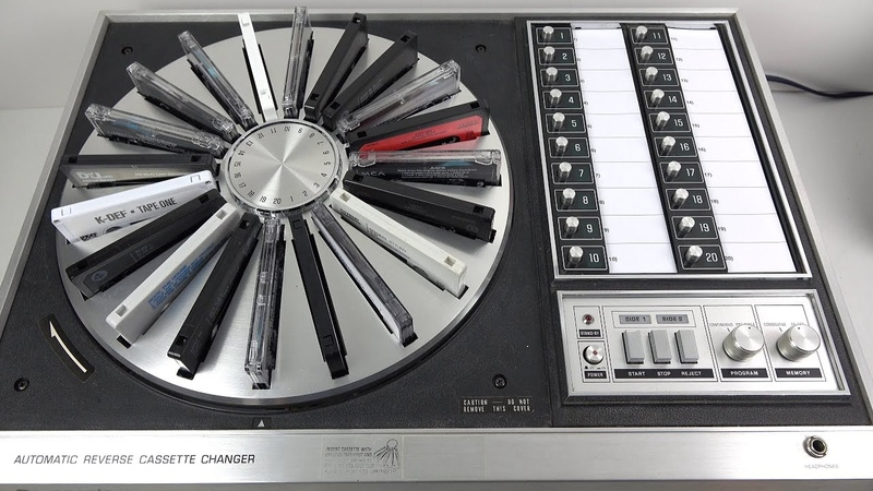 Fascinating Vintage 20 Cassette Carousel from 1972 Panasonic RS 296US