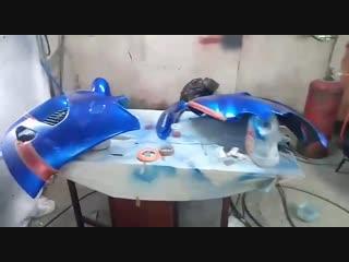 Покраска мотоцикла в эксклюзивный цвет