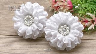Белые банты в школу МК DIY Lush White Bows