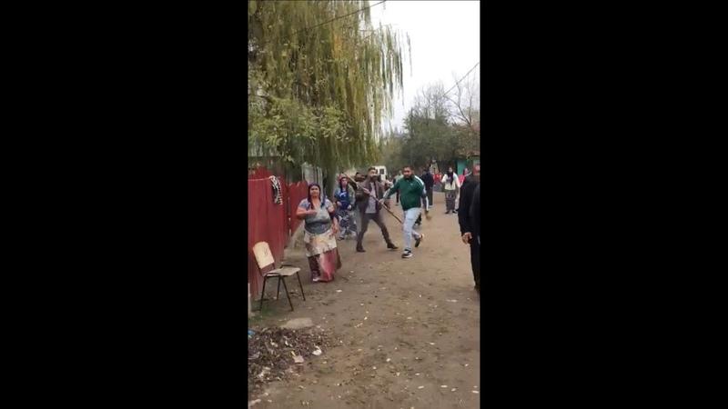 Bătaie în stradă între două clanuri de romi din Fetești
