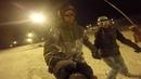 Sled Dogs Snowskates Couple ride