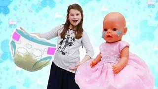 Принцесса Сина сидит с ребенком Беби Бон Эмили - Сина у стоматолога - Сборник видео для девочек