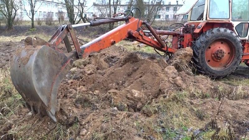 Экскаватор ЭО 2621\/ровняет и копает пруд