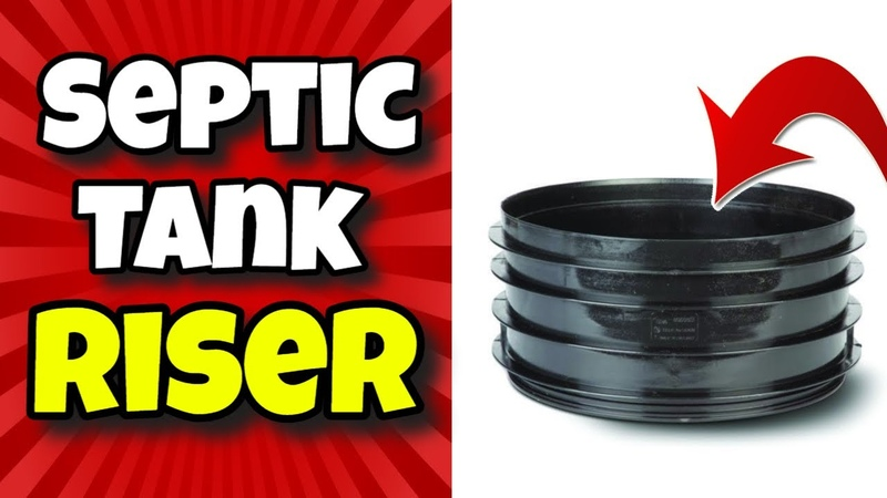 What are septic tank risers