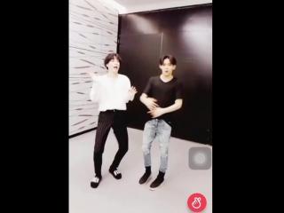 Yugbam dancing. yugyeom and bambam kiki do you love me?