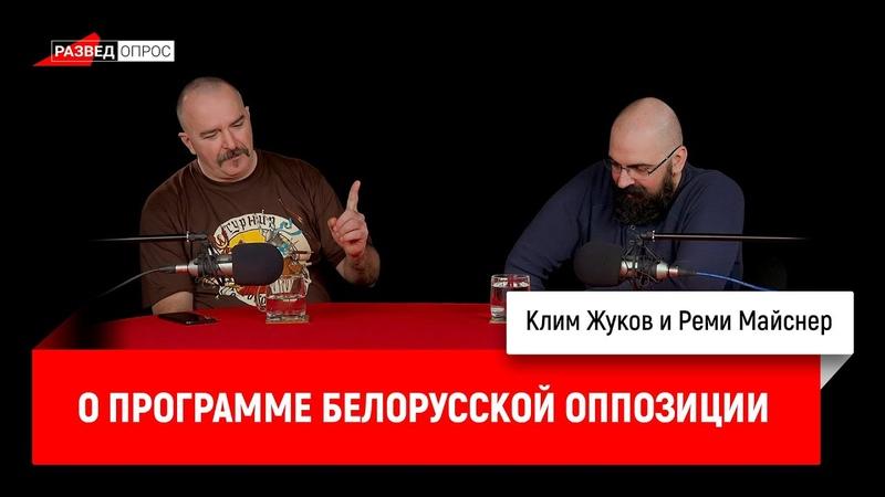 Клим Жуков и Реми Майснер о программе белорусской оппозиции