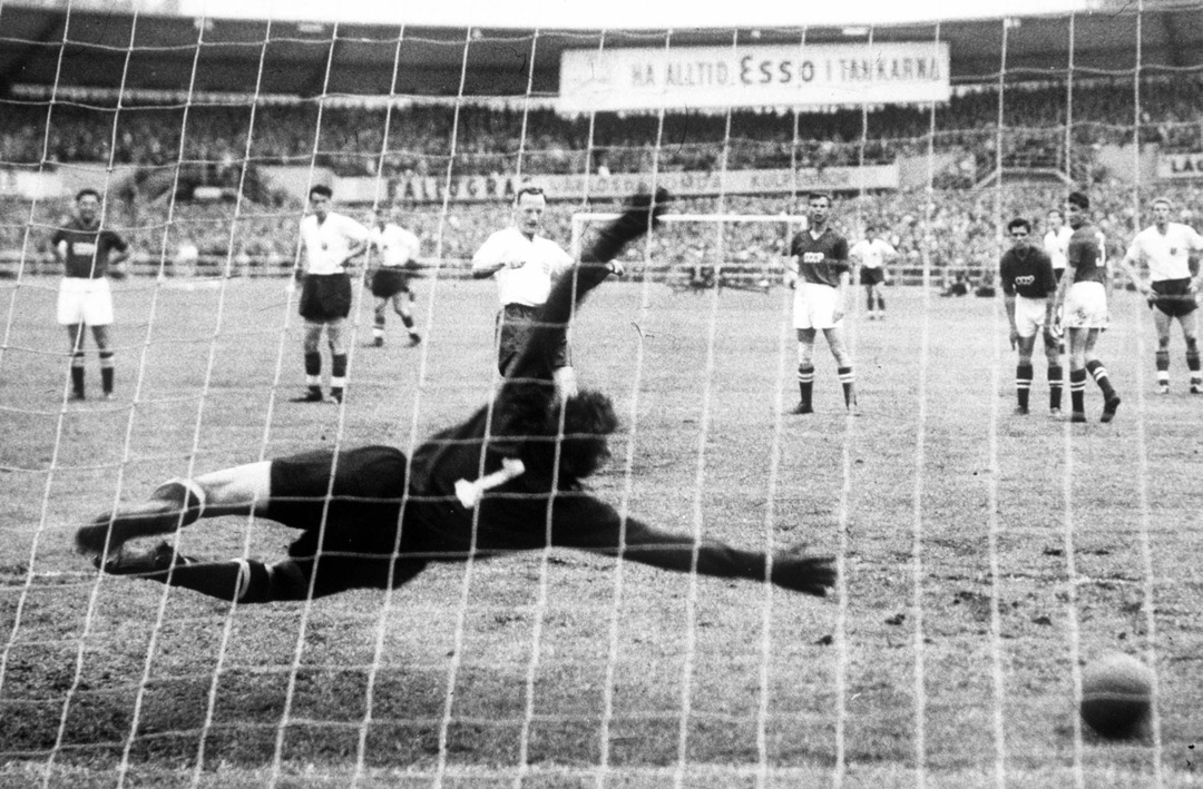Сборная СССР - сборная Англии, 2:2. Чемпионат мира 1958