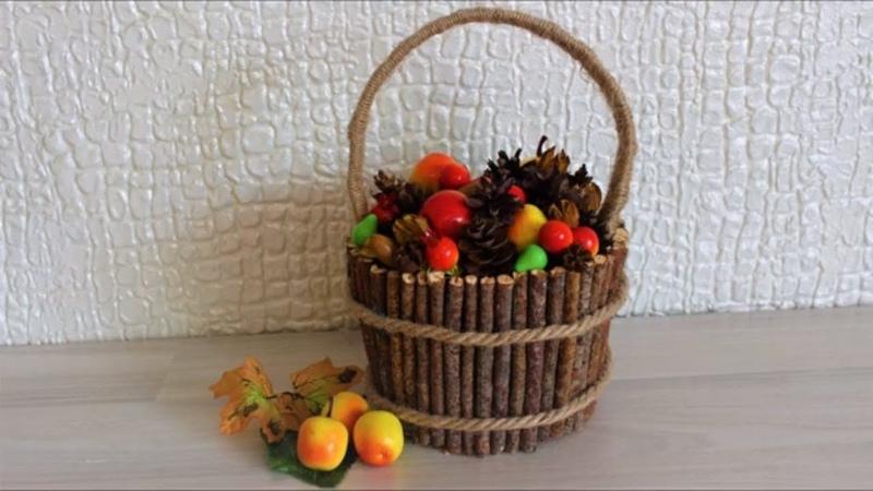 Осенняя композиция Осенние поделки Поделки с детьми Поделки в детский сад Поделка Дары осени