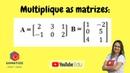 Como multiplicar matrizes? Posso multiplicar quaisquer matrizes?   Somatize   professora Edna