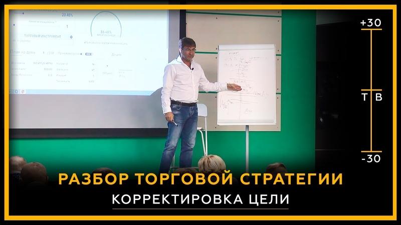 Разбор торговой стратегии трейдера Корректировка цели Фрагмент очной встречи Сергей Змеев 18