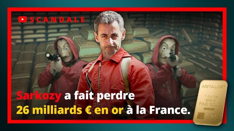 Nicolas Sarkozy a fait perdre 26 milliards € en or à la France