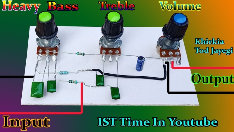 Ultra Bass Treble Volume Controller How to Make Bass Treble Volume for any Amplifier